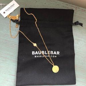 "Baublebar incognito initial ""E"" disc pendant"